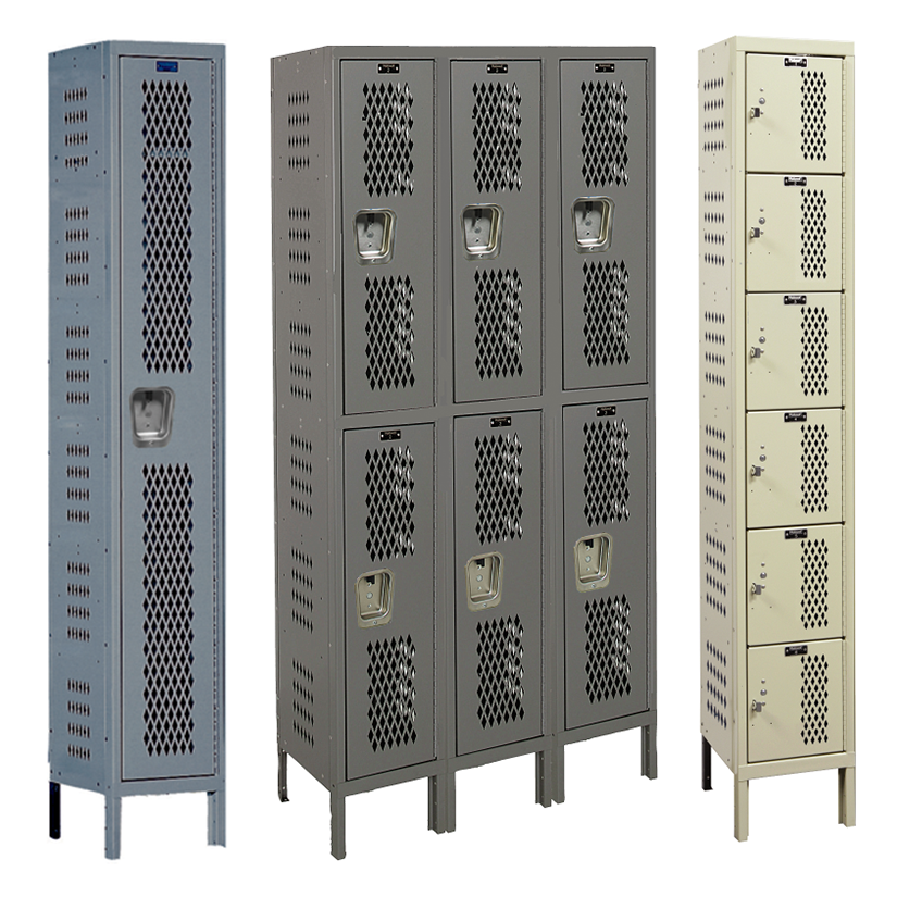 Heavy-Duty Ventilated Lockers